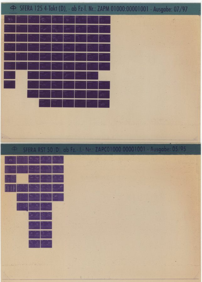 Mikrofich Mikroplan Sfera RST 125 und Sfera RST 50